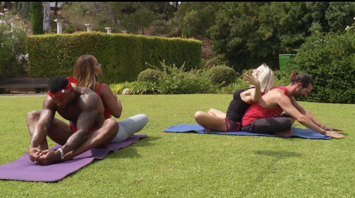 celebrity ex on the beach yoga