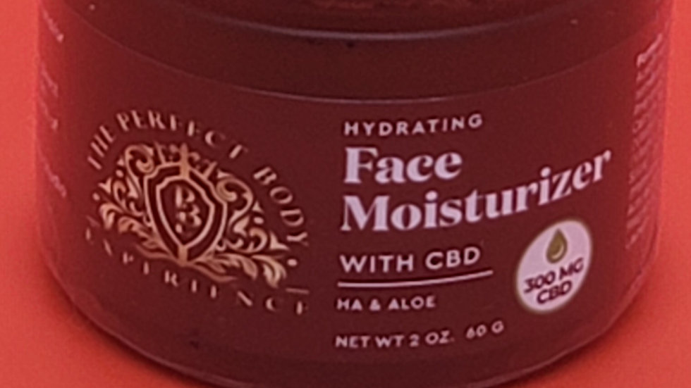 HYDRATING FACE MOISTURIZER  WITH CBD