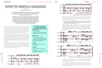 """""""How To Write A Cadence"""" / Tom Tom Magazine / Issue 35"""
