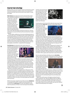 """From the Track to the Stage"" / Modern Drummer Magazine / April 2017 Issue / Page 3 of 3"