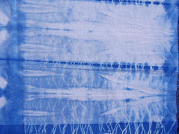 hand dyed indigo fabric
