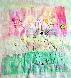 Stitched embroidery Bunny rabbit