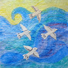 Seagulls over Southwold