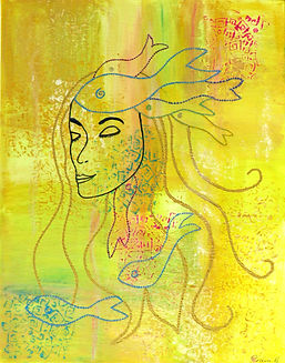 Sea dreaming original acylic painting by Tricia Garwood