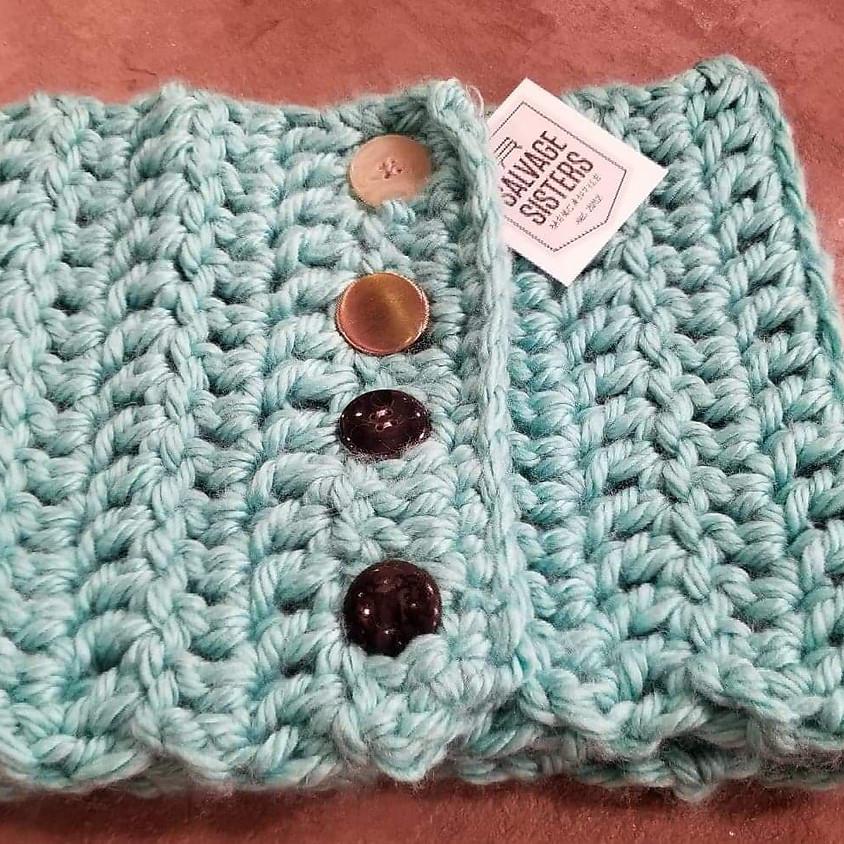 Beginner Crochet, Button up Cowells