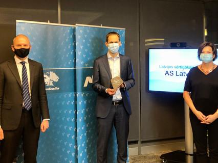 Latvenergo atzīts par TOP101 Latvijas vērtīgāko uzņēmumu un vērtīgāko enerģētikas uzņēmumu Baltijā