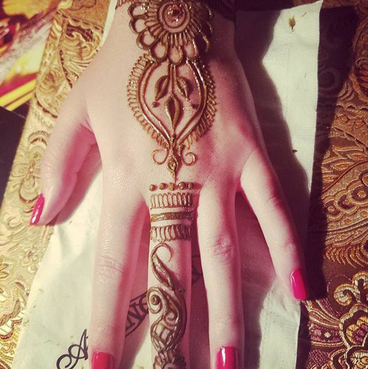 Simple party henna from a wedding event