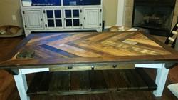 Blanca Herringbone Table
