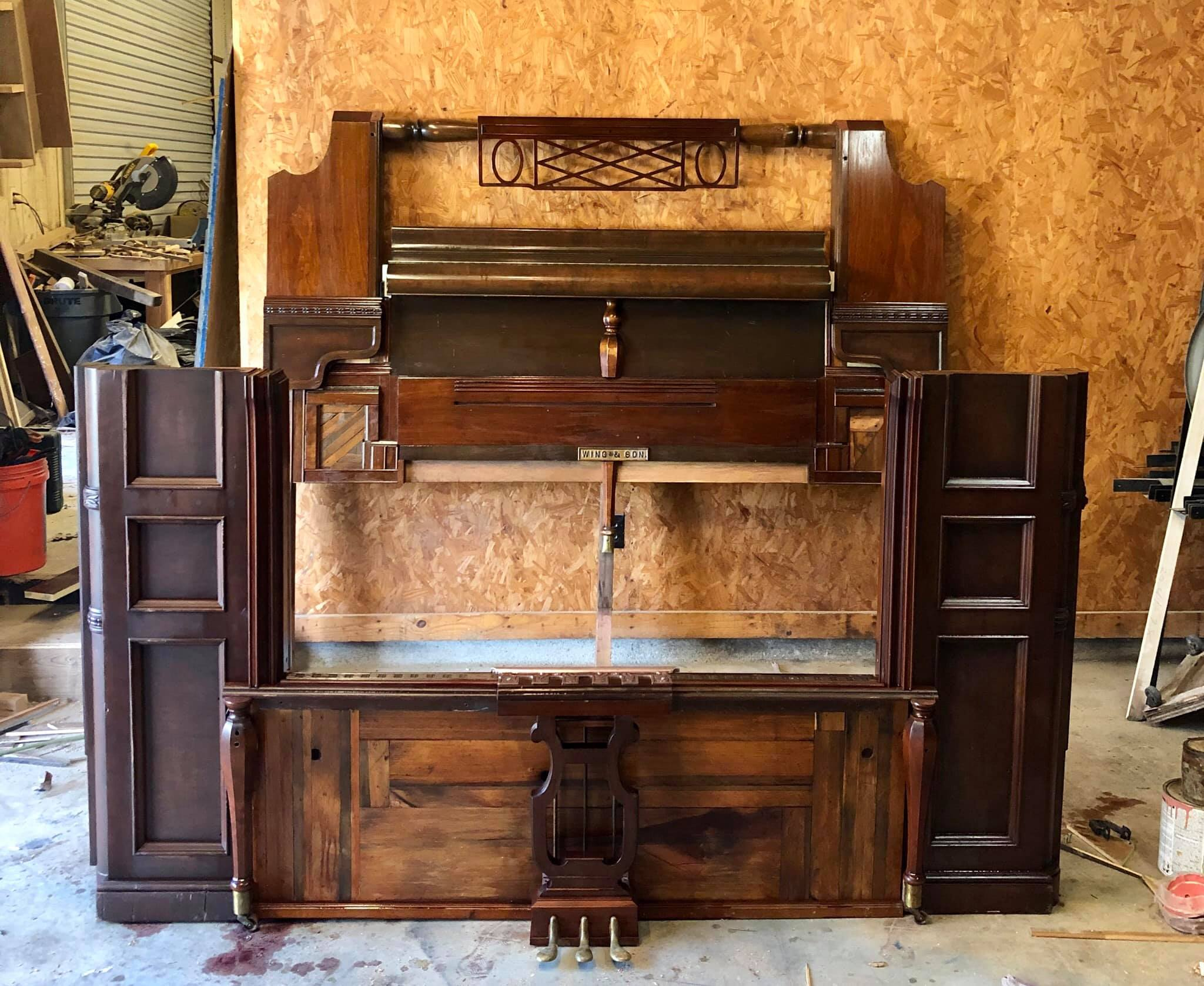 Bed made from Antique Piano