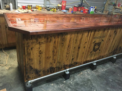 Rustic Bar with Pour Top in Progress