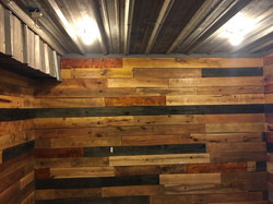 Man Cave Reclaimed Wood Wall