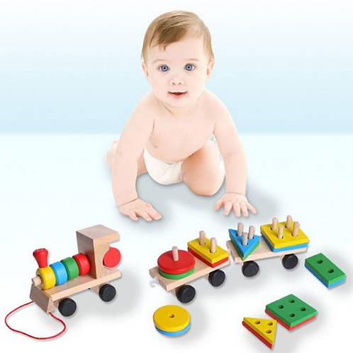 Autism Educational Wooden Toy Train