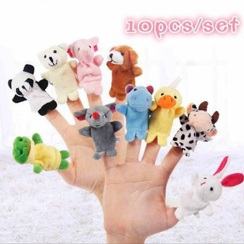 Autism Cute Plush Animal Finger Puppets