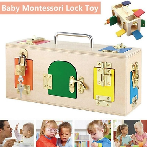 Autism Montessori Wooden Lock Box