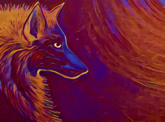 Moonlit Wolf