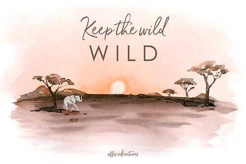 Karte - Keep the wild wild