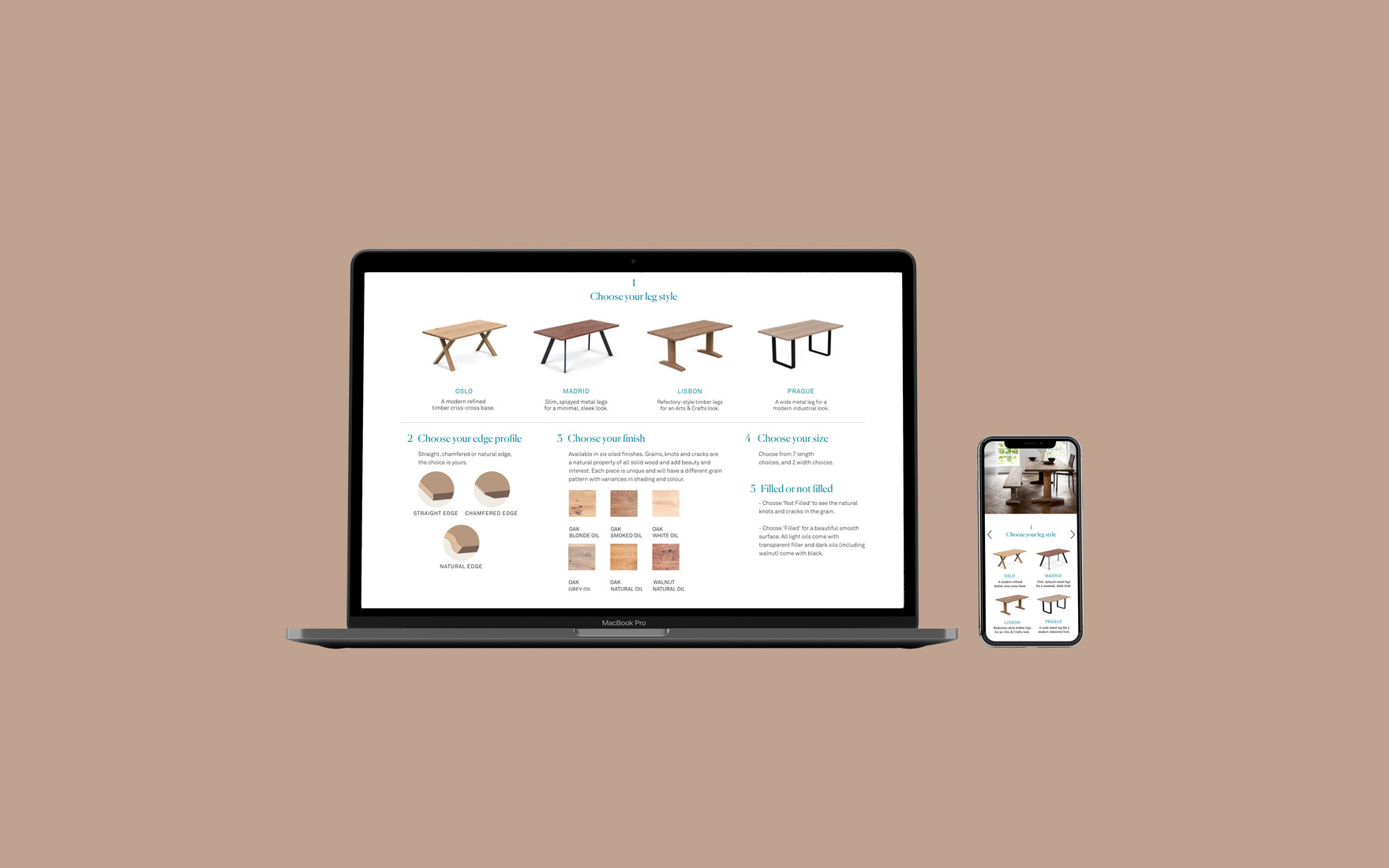 Designed by you tables landing page