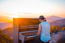 Piano Sunset