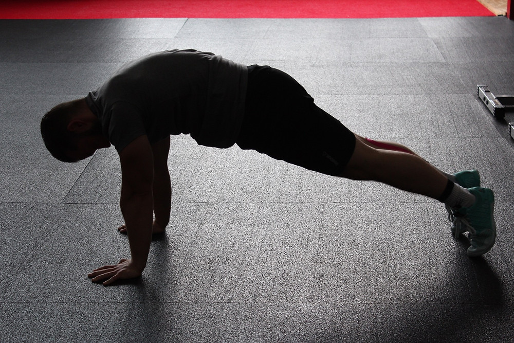 At-home exercise burpee