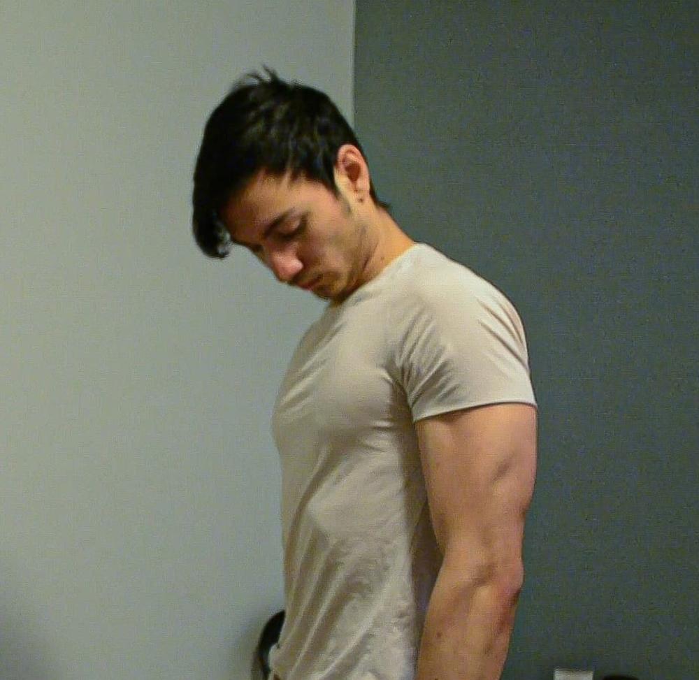 Buff guy in tshirt
