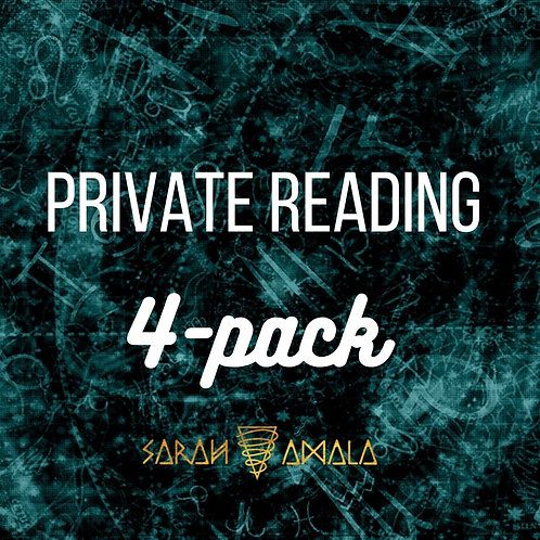 30 Minute Private Reading (4-pack)