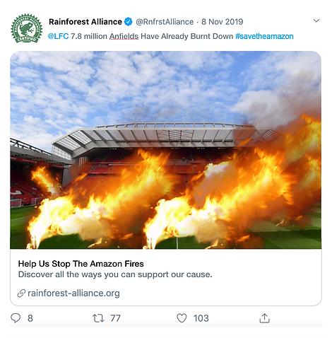Rainforest Alliance LFC Tweet.png