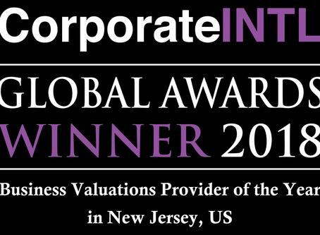 Global Awards Winner 2018 by Corporate Intl