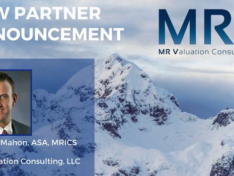 MRV Consulting Announces New Partner - Mr. Scott McMahon, ASA, MRICS