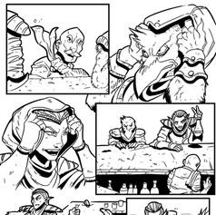fantasy comic page