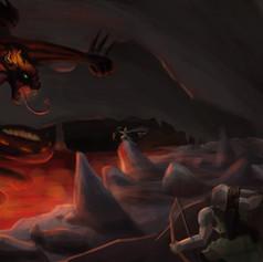 Fire dragon illustration