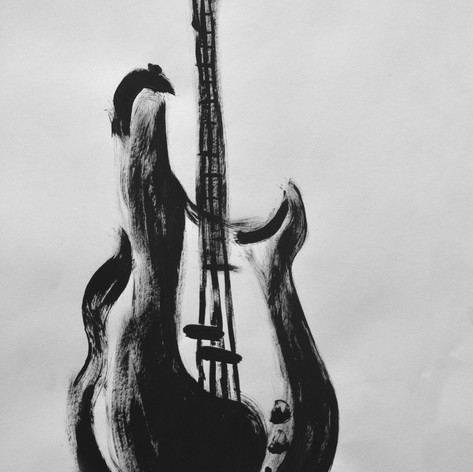 Balck acrilyc bass illustration