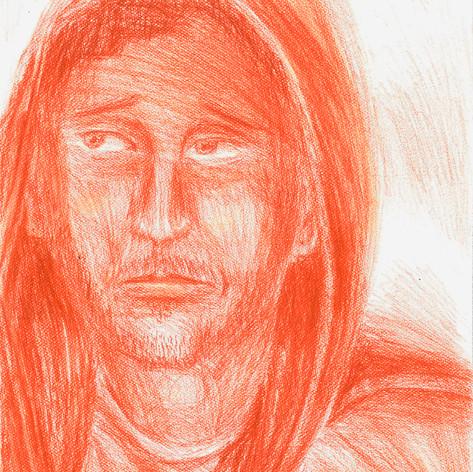 Red Pastel Portrait