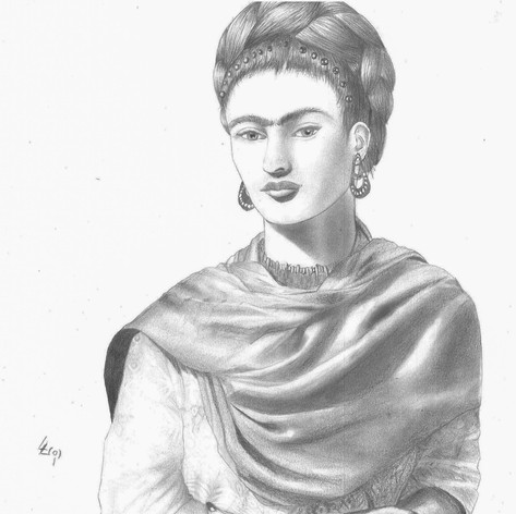 Frida Kahlo Pencil portrait