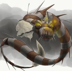 Aquatic Monster, Black Annis transformat