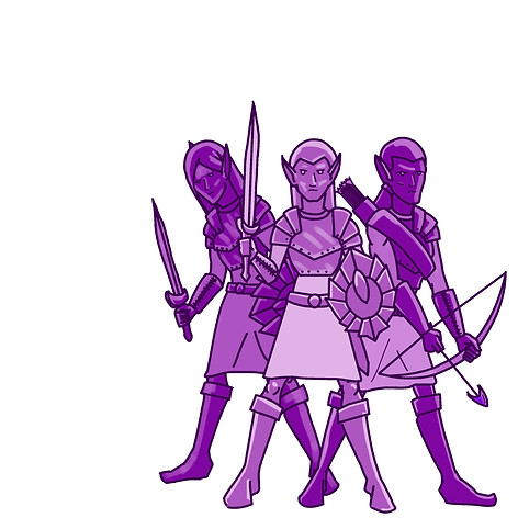 Elf warrior company design
