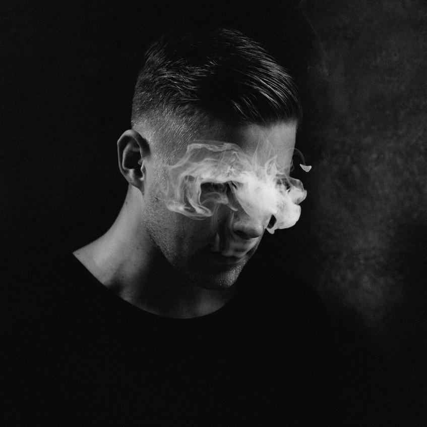Male Portrait with Smoke