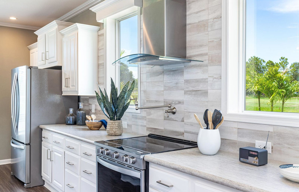 Coastal Palm Gourmet Kitchen complete with pot fill faucet, model 6400