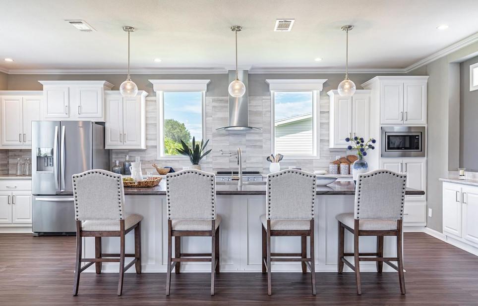 Coastal Palm Gourmet Kitchen2 bar stool seating, model 6400