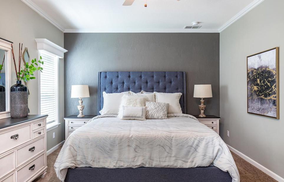 Coastal Palm Master bedroom model 6400