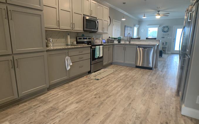 Kitchen with new granite