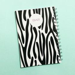 ✨_פרינט זברה הורס לילדה הורסת! בר - בהצלחה בבחינות הלשכה 🙏__#ntbksbrand #tlv #notebooks #customized