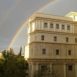 ❤💜💙💚💛_Bar-Ilan University, double rainbow, no filter__#ntbksbrand #tlv #notebooks #customized #d