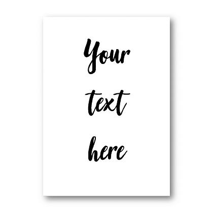הטקסט שלך - רקע לבן