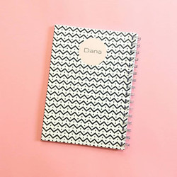🎈_כי אין אין אין כמו שחור לבן! (וורוד)__#ntbksbrand #tlv #notebooks #customized #design #stationery