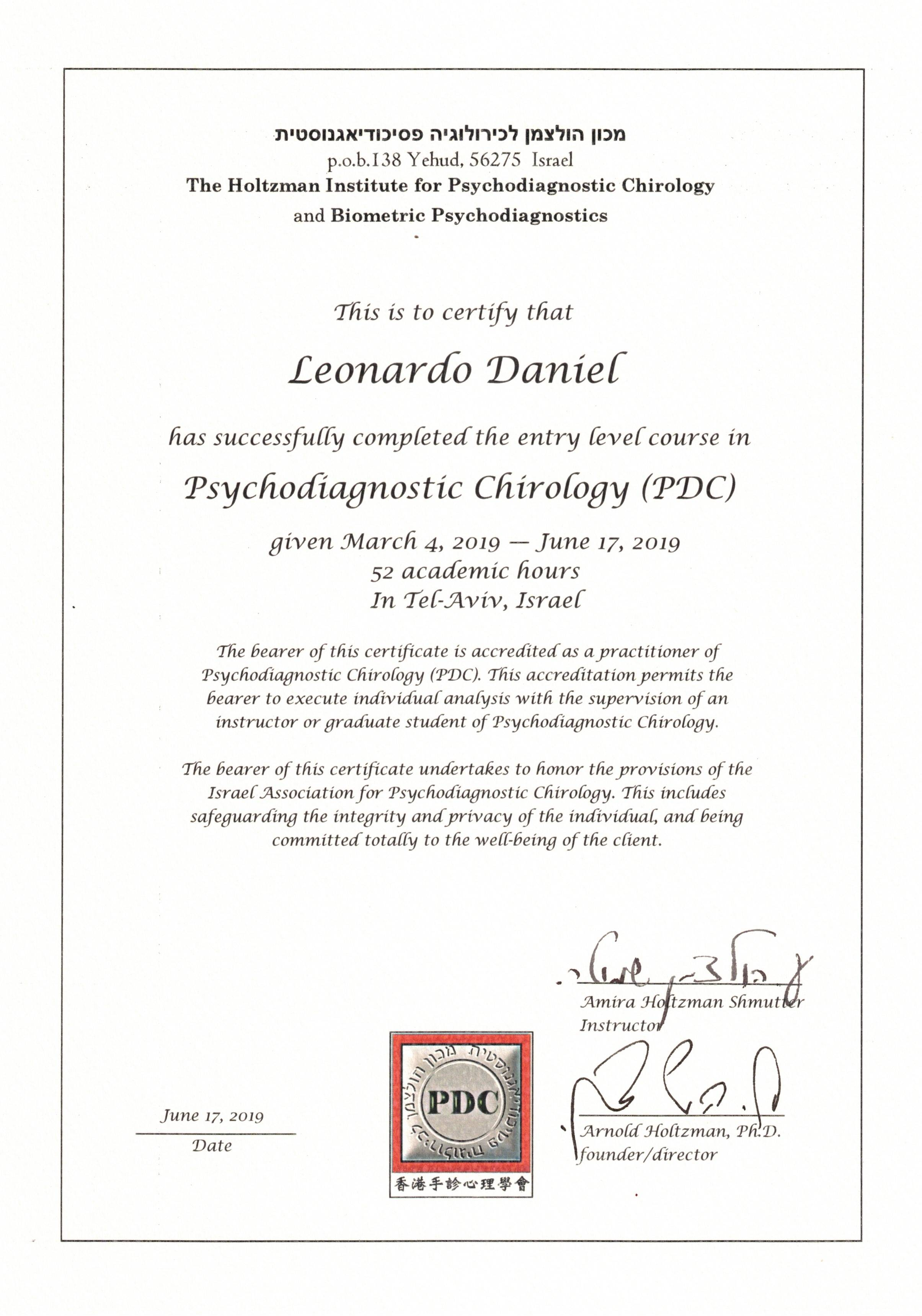 PsychoDiagnostic Chirology