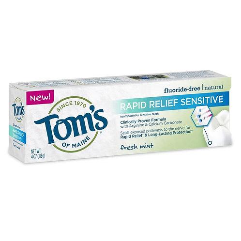 Зубная паста Tom's Of Maine Rapid Relief Sensitive, мятная