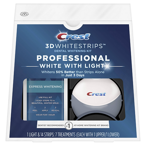 Crest 3D Whitestrips Professional White With Light