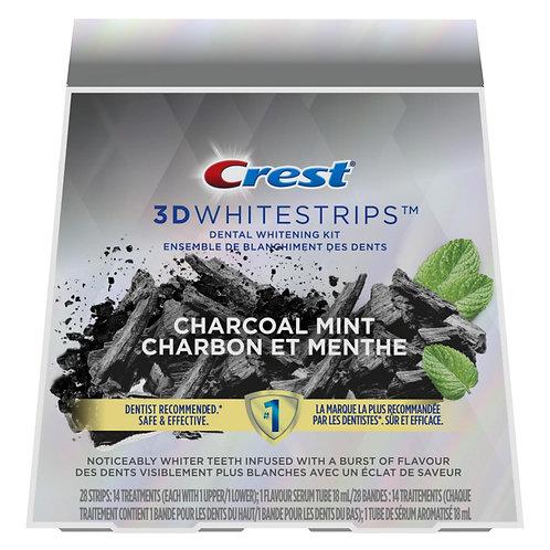 CREST 3D WHITESTRIPS CHARCOAL MINT - отбеливающие полоски для зубов