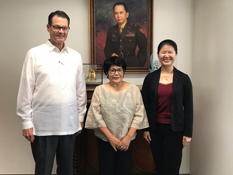Romulo Foundation executive Antonia Yulo Loyzaga met with GRMF directors