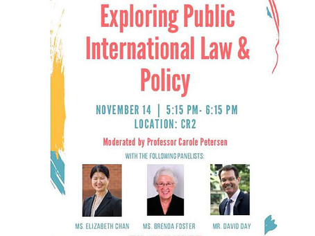 "Foundation Leadership presentation to Richardson Law School: ""Public International Law and Poli"